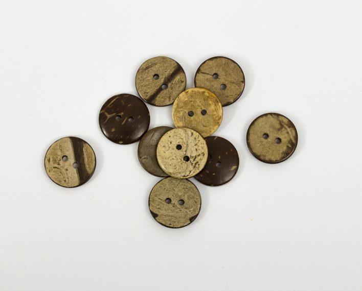 Askaretta Koristelu Nappi Kookos 20mm 1468