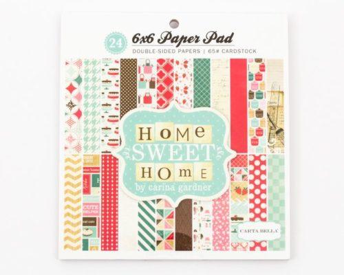 Askaretta Paperit Lajitelma 6x6 Home Sweet Home 258