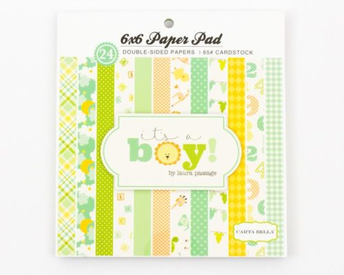 Askaretta Paperit Lajitelma 6x6 Natural Its A Boy 256