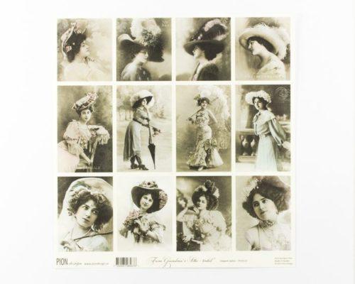 Askaretta Paperit Pion Kuva Elegant Ladies 688