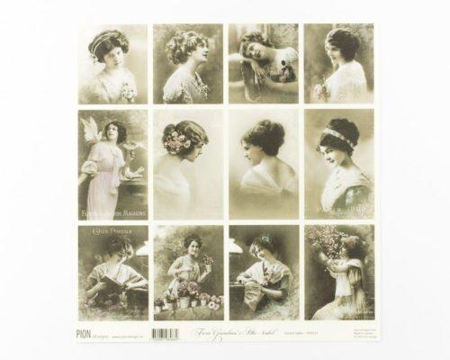 Askaretta Paperit Pion Kuva French Ladies 687