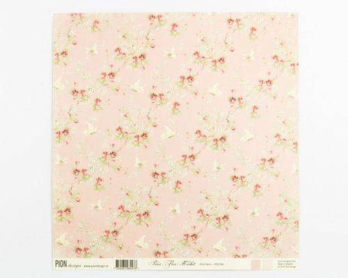 Askaretta Paperit Pion Pink Fabric 654