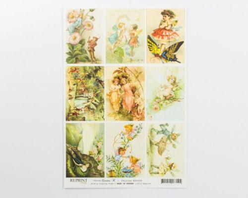 Askaretta Paperit Reprint Piirroskuva Kp0008 530