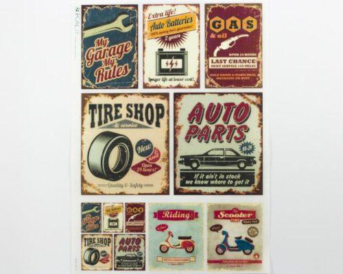 Askaretta Paperit Riisipaperi Garage 0013 726
