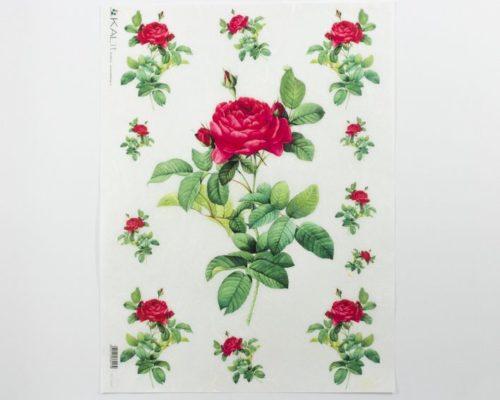 Askaretta Paperit Riisipaperi Pun Ruusu 0042 729