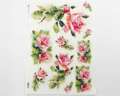 Askaretta Paperit Riisipaperi Rose 0001 744
