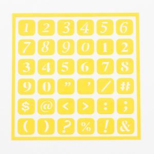 Askaretta Sapluuna Numerot Keltainen 284