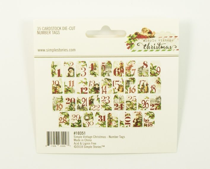 Askaretta Teemat Joulu Ss Numbertags 35pc 6577