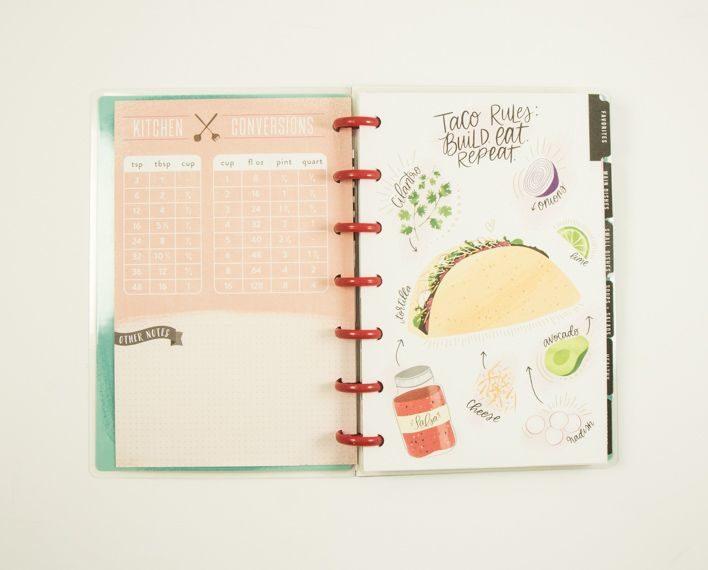 Askaretta Teemat Plannerit Mini Recipes 7405