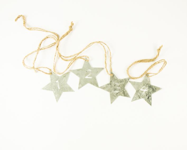 Askaretta Joulu Koristeet Numerot Tähdet 9473